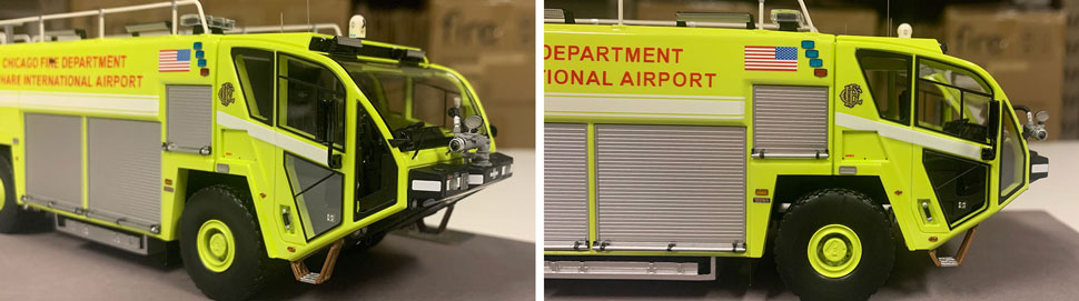 Close up images 11-12 of Chicago O'Hare ARFF 654 scale model