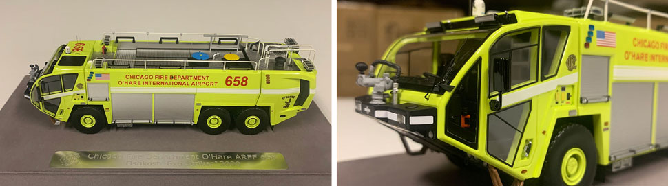 Close up images 7-8 of Chicago O'Hare ARFF 658 scale model