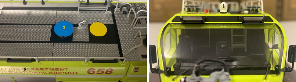 Close up images 9-10 of Chicago O'Hare ARFF 658 scale model
