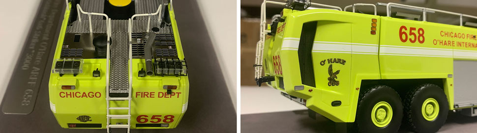 Close up images 11-12 of Chicago O'Hare ARFF 658 scale model