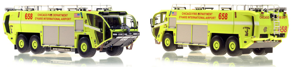 Chicago O'Hare ARFF 658 scale model is hand-crafted and intricately detailed.