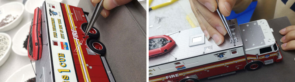 FDNY Rescue 1 Scale Model Assembly Pictures 3-4