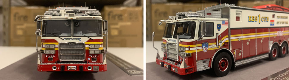 Closeup pictures 1-2 of the FDNY Rescue 1 scale model