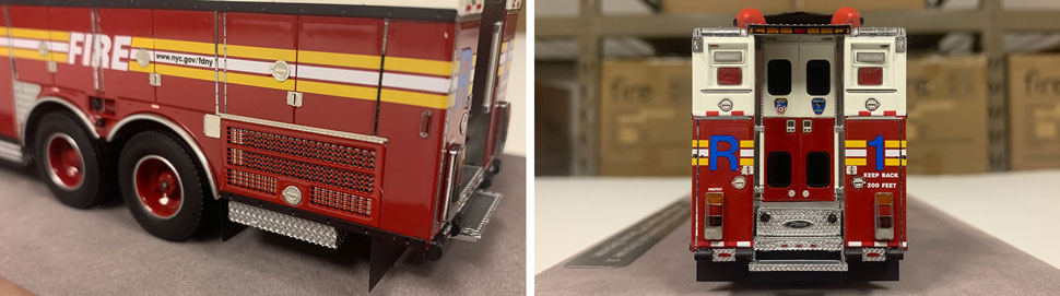 Closeup pictures 3-4 of the FDNY Rescue 1 scale model