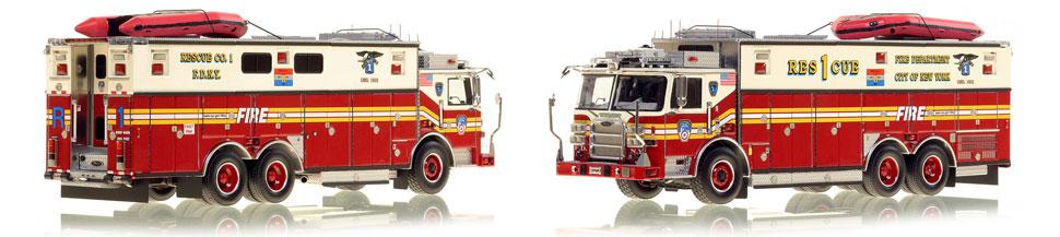 The first museum grade scale model of Manhattan's Pierce Arrow XT Rescue 1