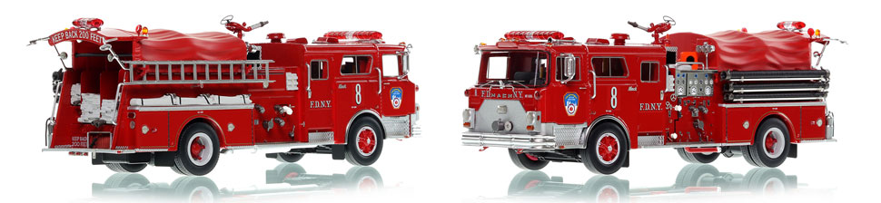 The first museum grade scale model of Manhattan's 1983 Mack CF Engine 8