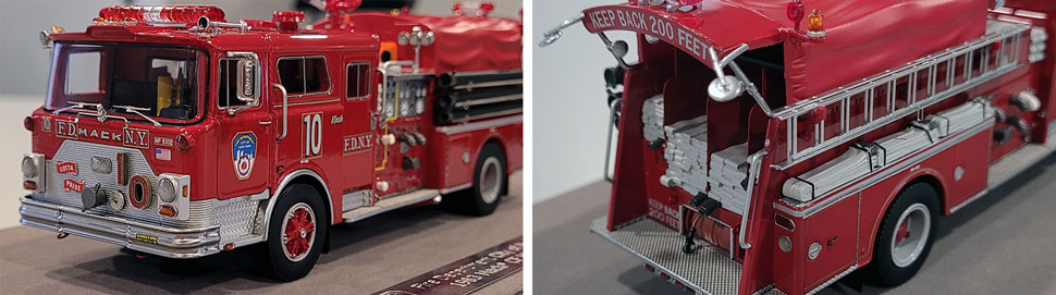 Close up images 1-2 of FDNY 1983 Mack CF Engine 10 scale model