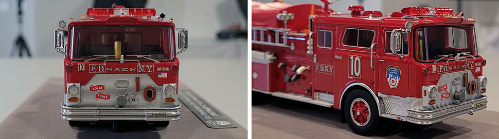 Close up images 3-4 of FDNY 1983 Mack CF Engine 10 scale model