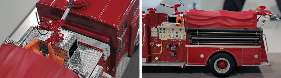 vClose up images 5-6 of FDNY 1983 Mack CF Engine 10 scale model