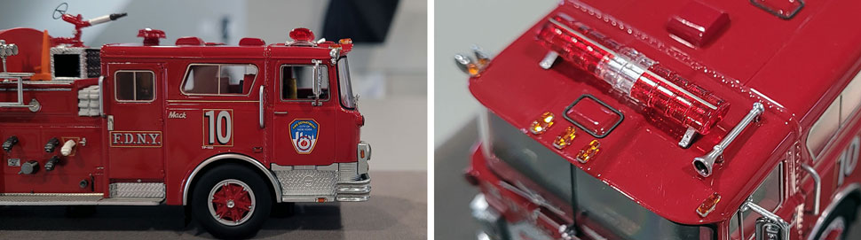 vClose up images 9-10 of FDNY 1983 Mack CF Engine 10 scale model