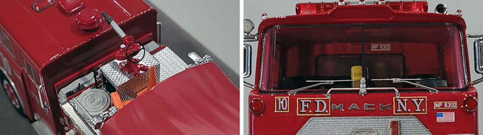 vClose up images 11-12 of FDNY 1983 Mack CF Engine 10 scale model