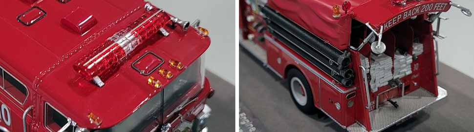 vClose up images 13-14 of FDNY 1983 Mack CF Engine 10 scale model