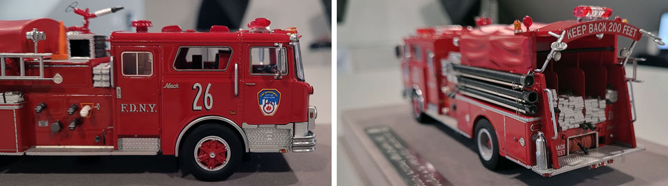 Close up images 5-6 of FDNY 1983 Mack CF Engine 26 scale model
