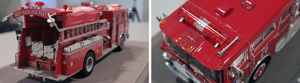 Close up images 3-4 of FDNY 1983 Mack CF Engine 26 scale model