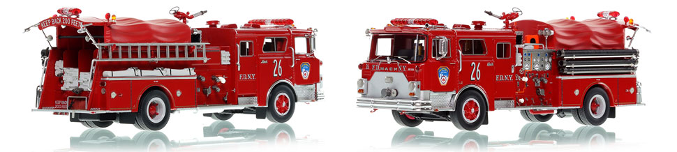 The first museum grade scale model of Manhattan's 1983 Mack CF Engine 26