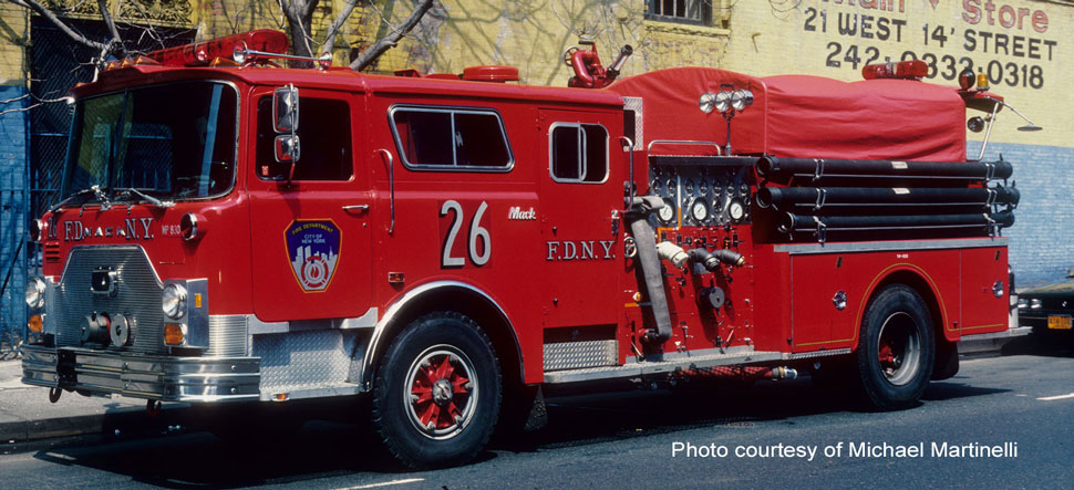 FDNY 1983 Mack CF Engine 26 courtesy of Michael Martinelli