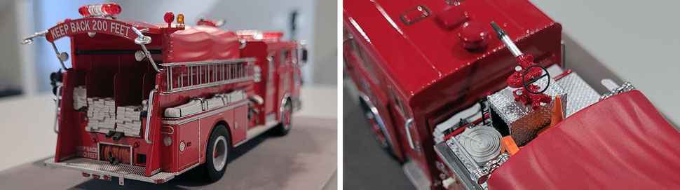 Close up images 3-4 of FDNY 1983 Mack CF Engine 65 scale model