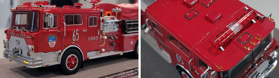Close up images 9-10 of FDNY 1983 Mack CF Engine 65 scale model