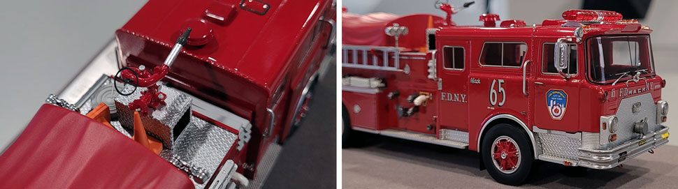 Close up images 1-2 of FDNY 1983 Mack CF Engine 65 scale model