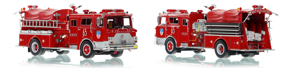 The first museum grade scale model of Manhattan's 1983 Mack CF Engine 65