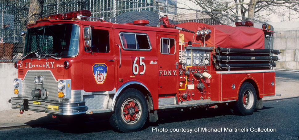 FDNY 1983 Mack CF Engine 65 courtesy of Michael Martinelli Collection