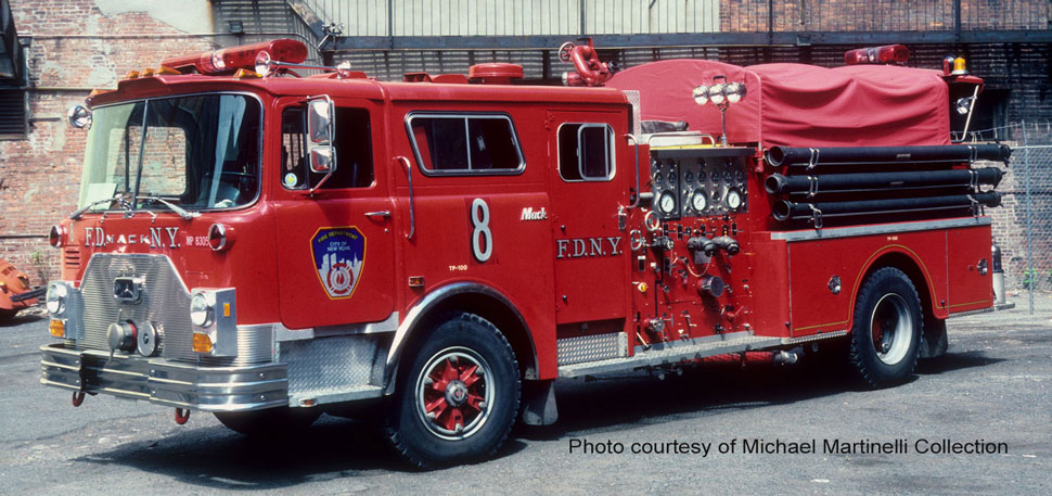 FDNY 1983 Mack CF Engine 8 courtesy of Michael Martinelli Collection