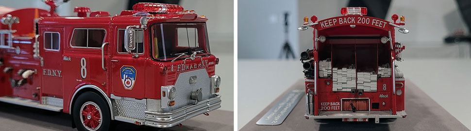 Close up images 1-2 of FDNY 1983 Mack CF Engine 8 scale model