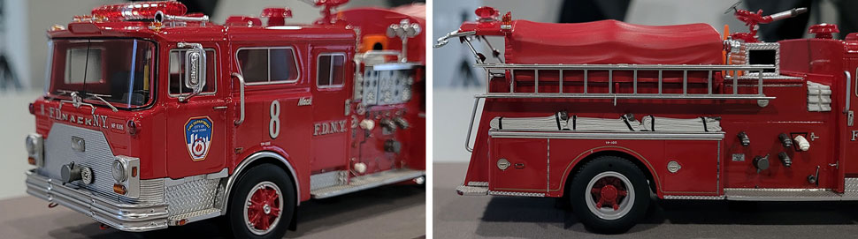 Close up images 9-10 of FDNY 1983 Mack CF Engine 8 scale model