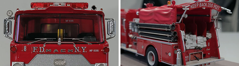 Close up images 11-12 of FDNY 1983 Mack CF Engine 8 scale model