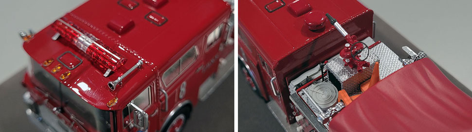 Close up images 3-4 of FDNY 1983 Mack CF Engine 8 scale model