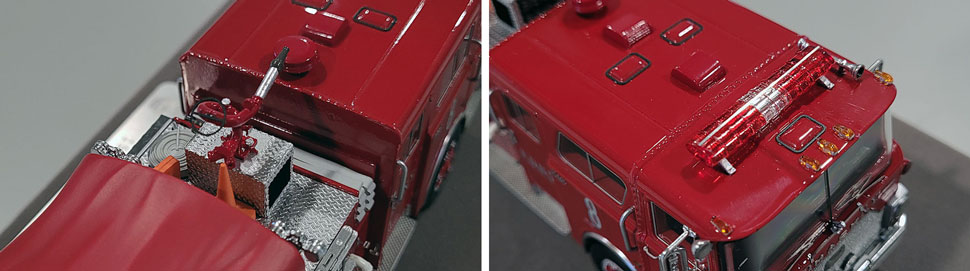 Close up images 13-14 of FDNY 1983 Mack CF Engine 8 scale model