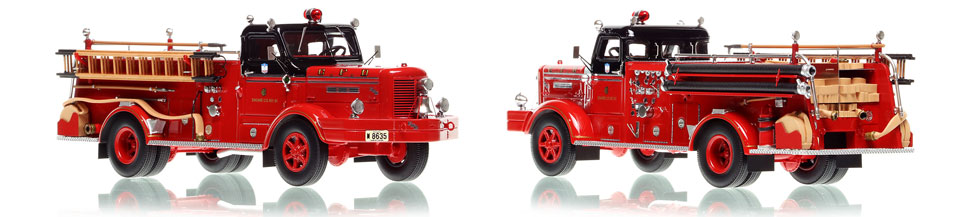 Chicago FWD Engine 61 scale model is hand-crafted and intricately detailed.