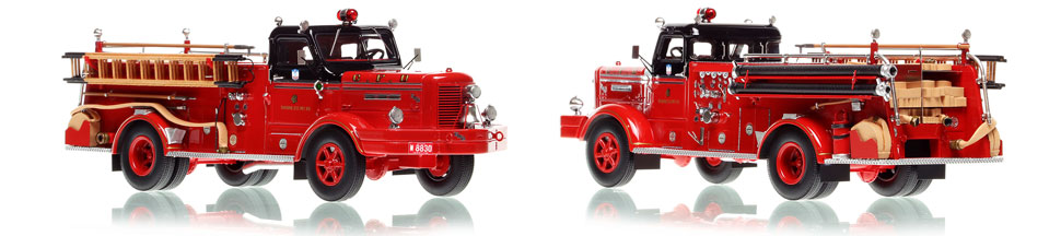 The first museum grade scale model of Chicago's Classic FWD Engine 66
