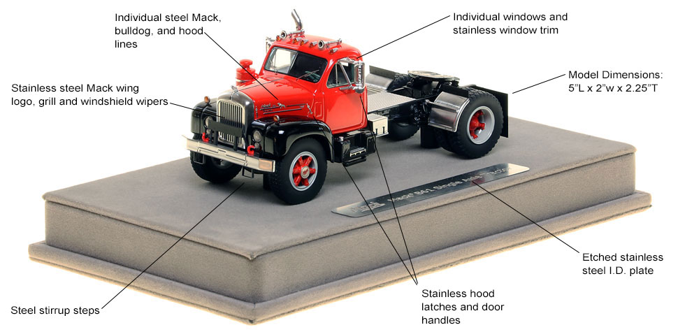 Features and Specs of the Mack B-61 single axle tractor