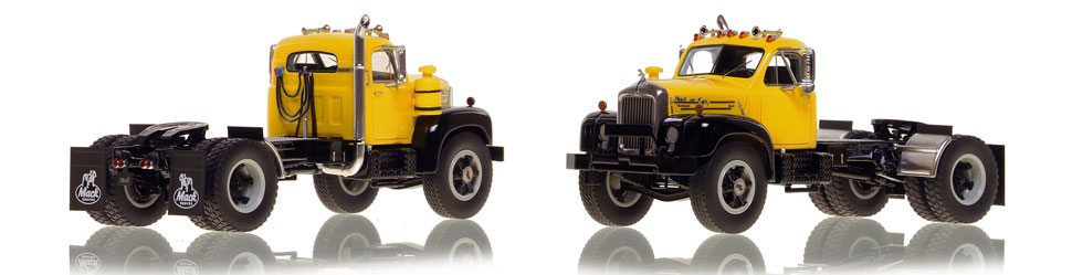 Mack B-61 single axle tractor scale model is hand-crafted and intricately detailed.