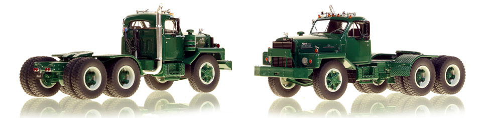 The first museum grade scale model of the Mack B-81 tandem axle tractor