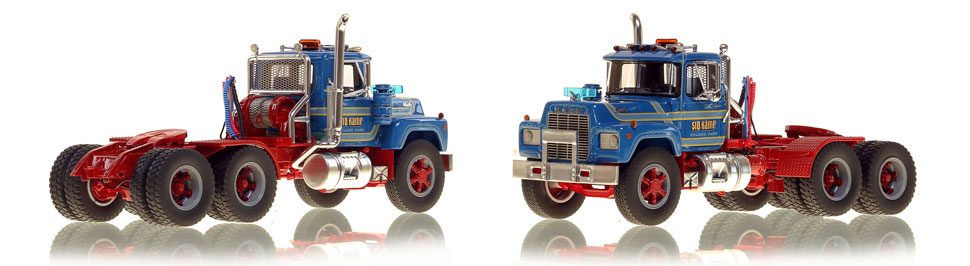 The first museum grade scale model of the Mack RD688 SX tandem axle tractor