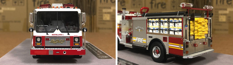 Closeup pictures 5-6 of the FDNY Satellite 1 scale model