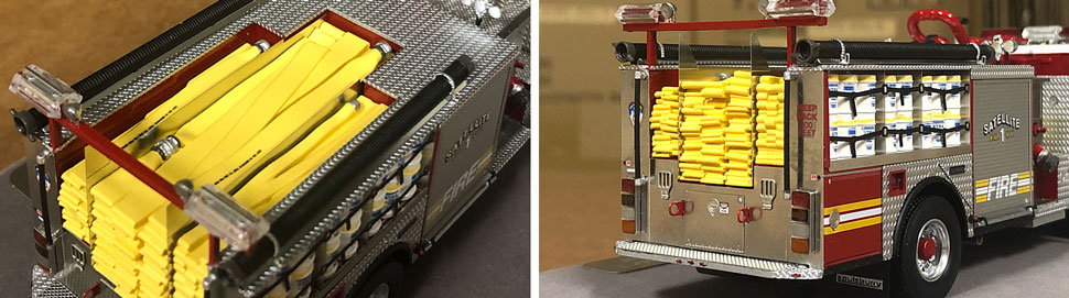 Closeup pictures 9-10 of the FDNY Satellite 1 scale model