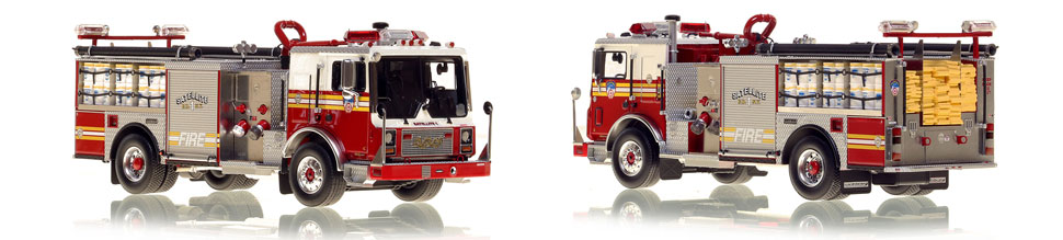 FDNY's Satellite 1 scale model is hand-crafted and intricately detailed.