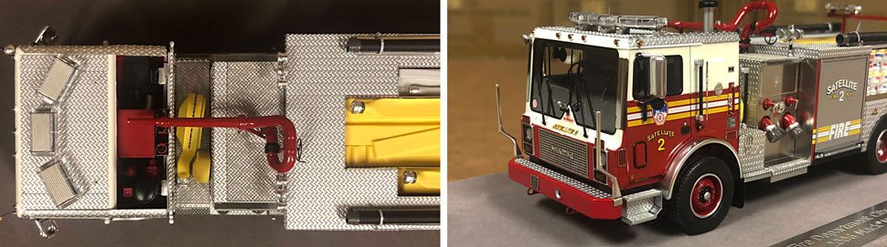 Closeup pictures 1-2 of the FDNY Satellite 2 scale model