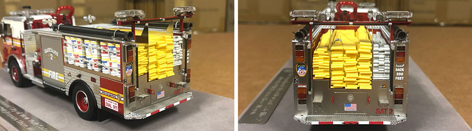Closeup pictures 3-4 of the FDNY Satellite 2 scale model