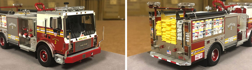 Closeup pictures 5-6 of the FDNY Satellite 2 scale model
