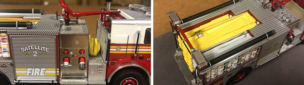 Closeup pictures 7-8 of the FDNY Satellite 2 scale model