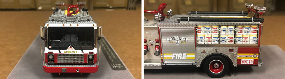 Closeup pictures 9-10 of the FDNY Satellite 2 scale model