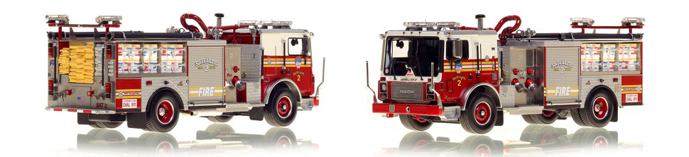 FDNY's Satellite 2 scale model is hand-crafted and intricately detailed.
