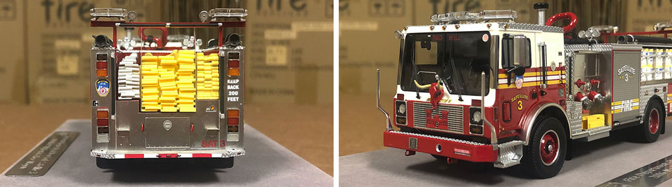 Closeup pictures 1-2 of the FDNY Satellite 3 scale model