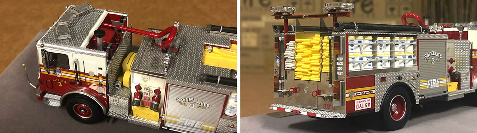 Closeup pictures 3-4 of the FDNY Satellite 3 scale model