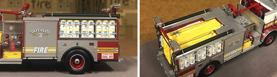 Closeup pictures 7-8 of the FDNY Satellite 3 scale model