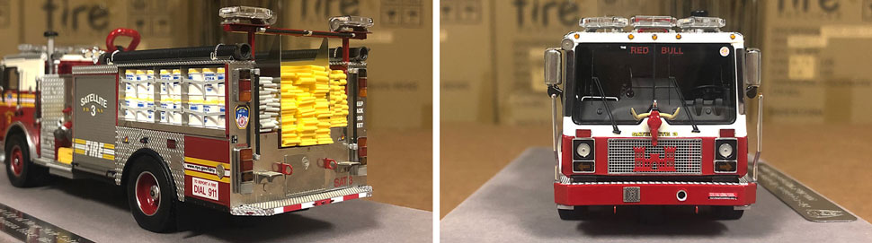 Closeup pictures 5-6 of the FDNY Satellite 3 scale model